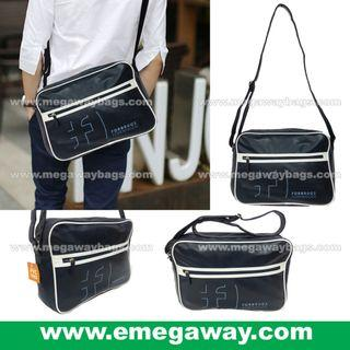 Classic Men Casual Cross Shoulder Bag Messenger Pack Streetwear Vintage Fashion Design Danish Denmark Promotion Team Bag Corporate Bag Congress Conference Exhibition Gift eMegaway MegawayBags e-Megaway Megaway #6659