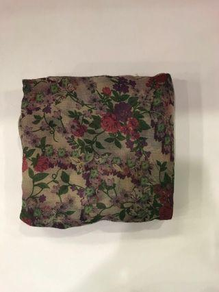 #NUSENTRAL Two face flower printed bawal