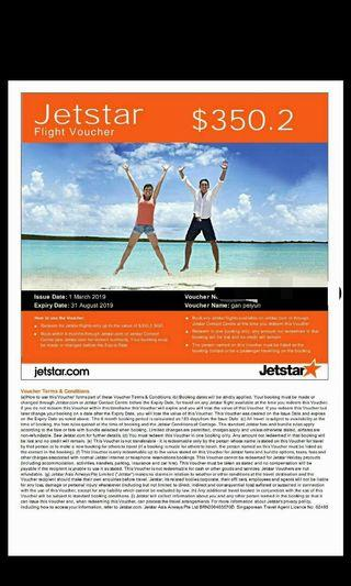 Jetstar ticket voucher