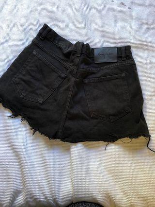 Calvin Klein high waisted denim shorts
