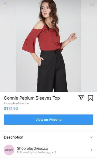 WHITE  Connie peplum top