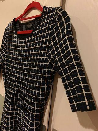 Topshop checkered sweater dress