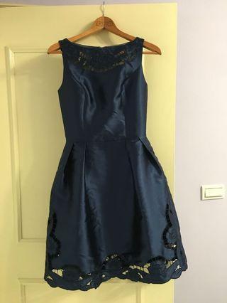 歐美牌ChiChi London緞面澎裙洋裝
