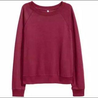H&M sweatshirt burgundy/maroon