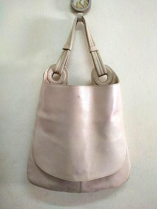 Light Pink Genuine Leather Tote