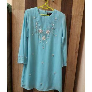 KURUNG MODEN (LIGHT BLUE)