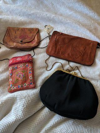 Assorted clutched and side bag
