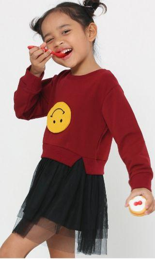 Schmiley mo jumper with tutu skirt