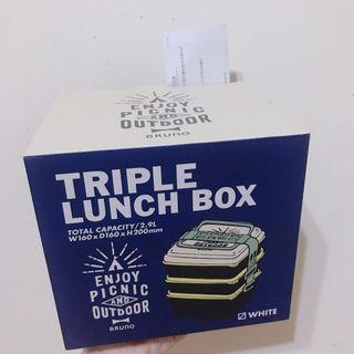 日本限定配色! Bruno triple lunch box 野餐季三層便當盒 #半價居家拍賣會