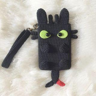 Toothless How To Train Your Dragon Handmade Ezlink Cardholder Crochet