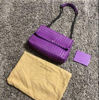 bv small olimpia bag purple