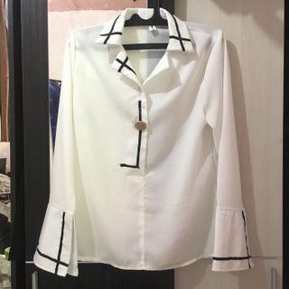 Kemeja Putih / White Shirt / Baju Putih Wanita / Baju Kerja Import from Korea