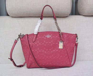 Coach Small Kelsey chain satchel in signature leather
