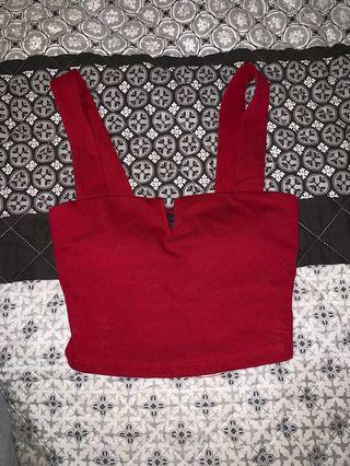 Ava and ever red padded crop top