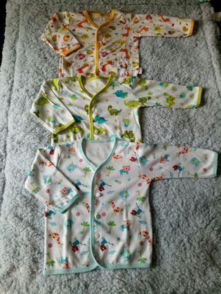 (3 pcs) Baju Baby Lengan Panjang