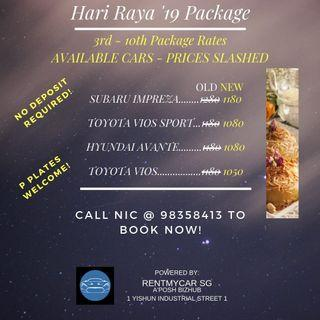 📣RAYA PACKAGE RATES SLASHED! HURRY! BOOK NOW!👌