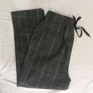 Tartan Pants / Celana Tartan / Celana Kotak Kotak Warna Abu Import from Korea