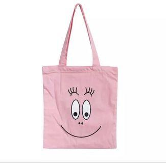 全新 babapapa Tote Bag 韓國巴巴爸爸粉色帆布包