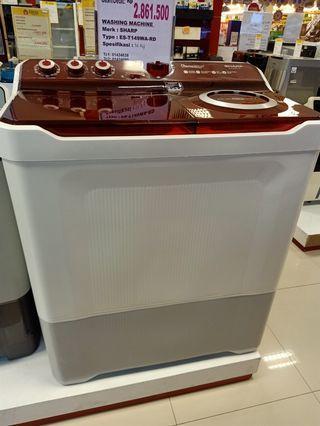 Mesin cuci Sharp 14kg Bisa Credit Tanpa Dp