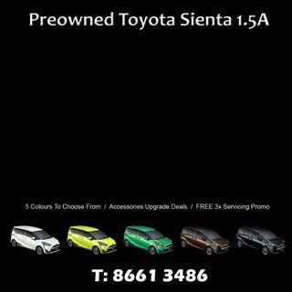 2016 Toyota Sientas For Sale - 5 Colours