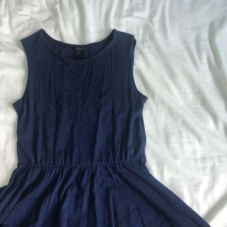 🚚 Forever 21 Navy Blue Skater Dress