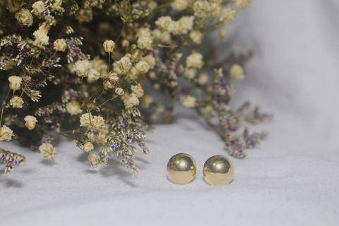 🚚 BIG GOLD PEARL EARRINGS