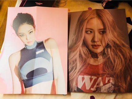 WTT/WTS Blackpink New Album Poster, Polaroid Card and Rose Photocard