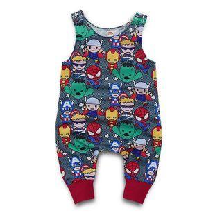 ✔️STOCK - CARTOON MARVEL SUPERHERO AVENGERS SLEEVELESS OVERALL JUMPSUIT NEWBORN TODDLER BABY BOYS JUMPER ROMPER KIDS CHILDREN CLOTHING
