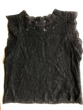 Black Lace Top 黑色喱士上身衫 黑色背心 Lace Tank Top