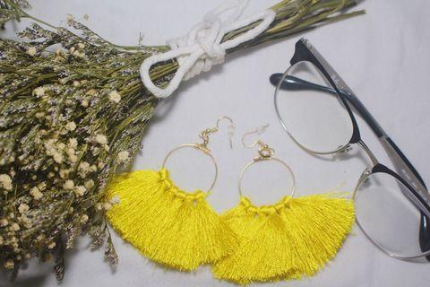 YELLOW TASSLE EARRINGS V1
