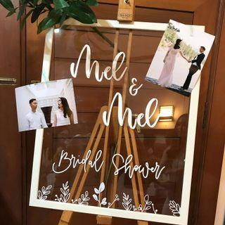 Calligraphy Wedding/ Bridal Shower Signs