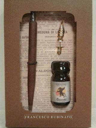 Rubinato Wooden pen nib holder ink with 2 ass. nib
