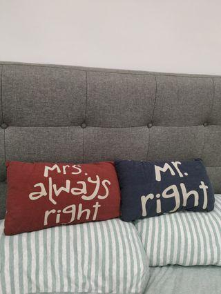 Long pillow for sofa or lounge