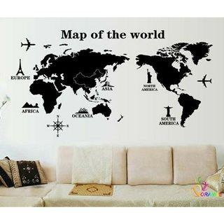 Map of the World decal