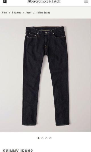 🚚 SALE BNWT Ambercrombie & Fitch Dark Blue Skinny Jeans Size 30x30