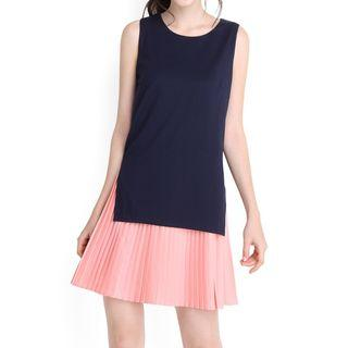 Lilypirates Two Of A Kind Dress In Blue Pink - M