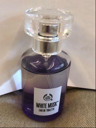 THE BODY SHOP 香水 白麝香絲柔淡雅香水 30ml white musk