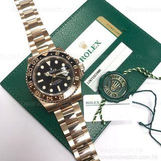 全新~2018年新款 #Rolex #126715CHNR 18K玫瑰金 GMT-Master II #rootbeer