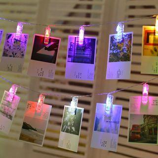 LED photo string lights- 10 lighy clips