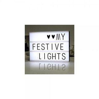 (E1712)A4 Colour Changing Light Box with 100 Letters