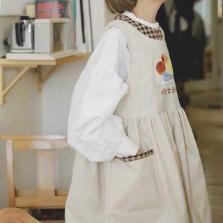 《洋裝 全新》麵包出爐背心裙