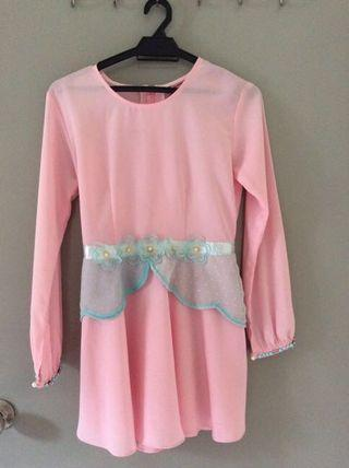 Old blossom box store kurung (top only)