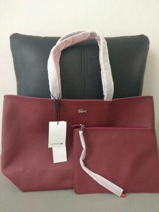 Tas Lacoste (Tote Bag) free Pouch.