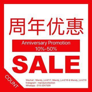 Anniversary Mth Promotion 10%-50%