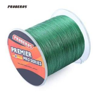 PROBEROS 500M DURABLE COLORFUL PE 4 STRANDS MONOFILAMENT BRAIDED FISHING LINE ANGLING ACCESSORY (GREEN) 60LBS