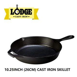 Lodge 10.25inch (26cm) Pre-seasoned Cast Iron Skillet - Made in USA