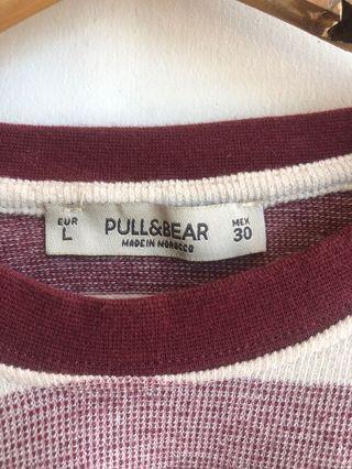 Pull & bear model Crop tee