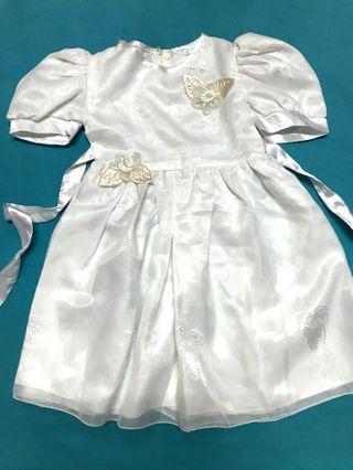 🚚 女童連身白紗裙