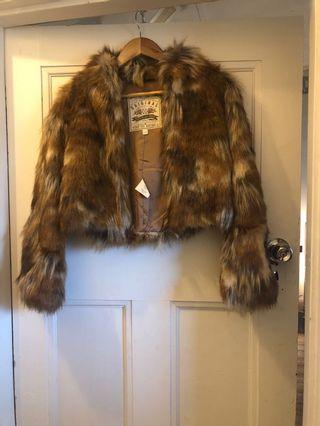 Spell Designs Faux Fur Jacket s/m