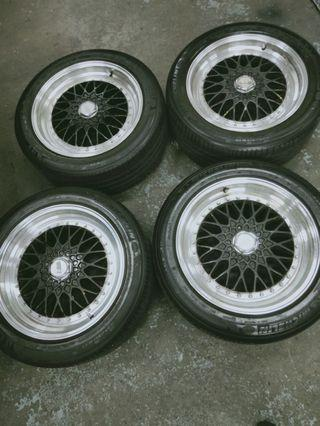 "CHEAP!! BBS 17"" Rims with michelin tyres"